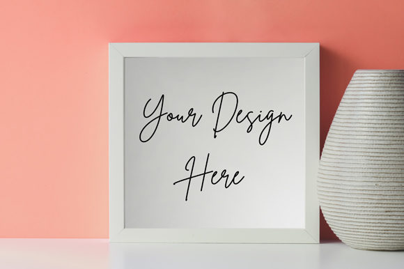 White Frame Board Mockup Graphic Product Mockups By knou