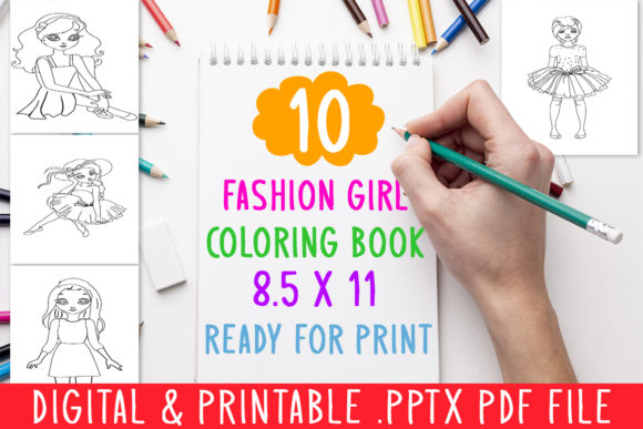 Fashion Girl World Coloring Pages For Kids, Teddy. Stock Vector ... | 387x580