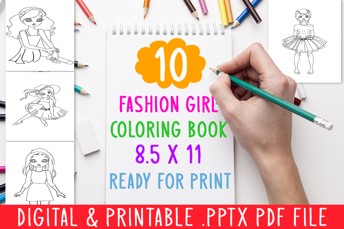 10 Fashion Girls Coloring Book For Kids Graphic By Designsbundles Creative Fabrica