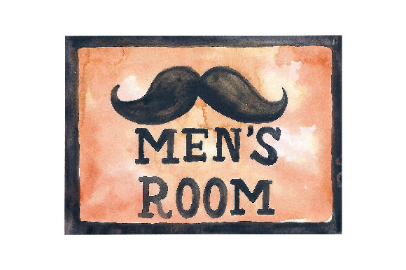 Download Free Vintage Men S Room Sign Svg Cut File By Creative Fabrica Crafts for Cricut Explore, Silhouette and other cutting machines.