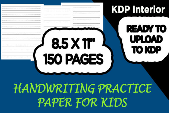 Print on Demand: 200 Pages of Kindergarten Writing Paper Graphic KDP Interiors By Gurus Kdp Templates