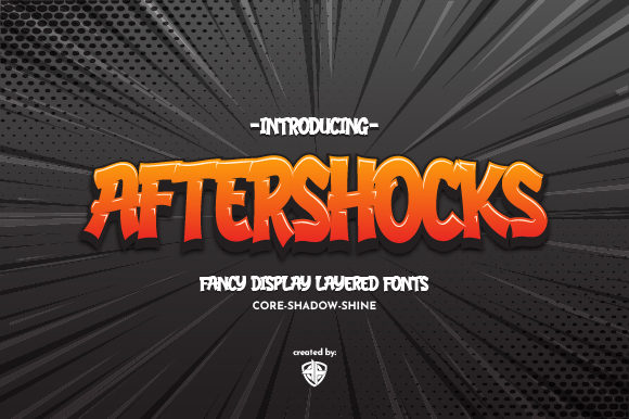 Print on Demand: Aftershocks Display Fuente Por Ariya Works Studio