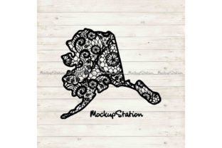Download Free Alaska Mandala Ak Floral Lace Graphic By Mockup Station for Cricut Explore, Silhouette and other cutting machines.