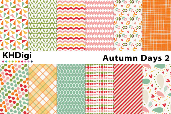 Download Free Autumn Days 2 Digital Paper Graphic By Khdigi Creative Fabrica for Cricut Explore, Silhouette and other cutting machines.