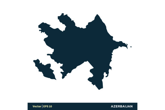 Azerbaijan - Europe Countries Map Vector Graphic Graphic Templates By soponyono