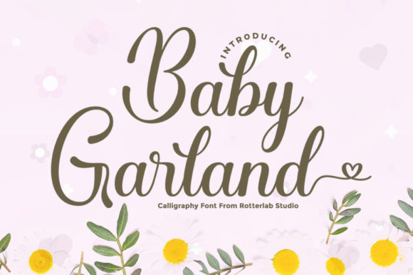 Print on Demand: Baby Garland Script & Handwritten Font By rotterlabstudio