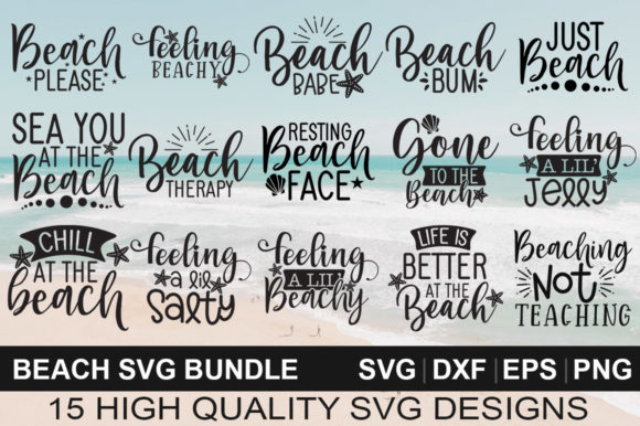 Download Free Beach Bundle Graphic By Designdealy Com Creative Fabrica for Cricut Explore, Silhouette and other cutting machines.