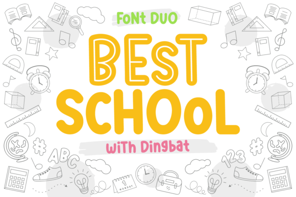 Download Free Best School Font By Kelik 7ntypes Creative Fabrica for Cricut Explore, Silhouette and other cutting machines.