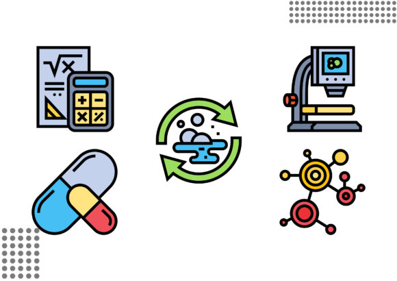 Bioengineering Graphic Icons By cool.coolpkm3