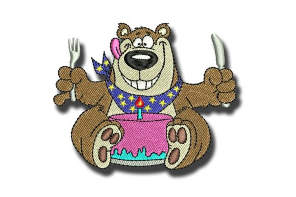 Birthday Bear Birthdays Embroidery Design By BabyNucci Embroidery Designs