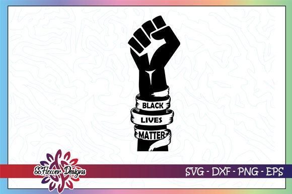 Black Lives Matter, Black Fist Gráfico Crafts Por ssflower