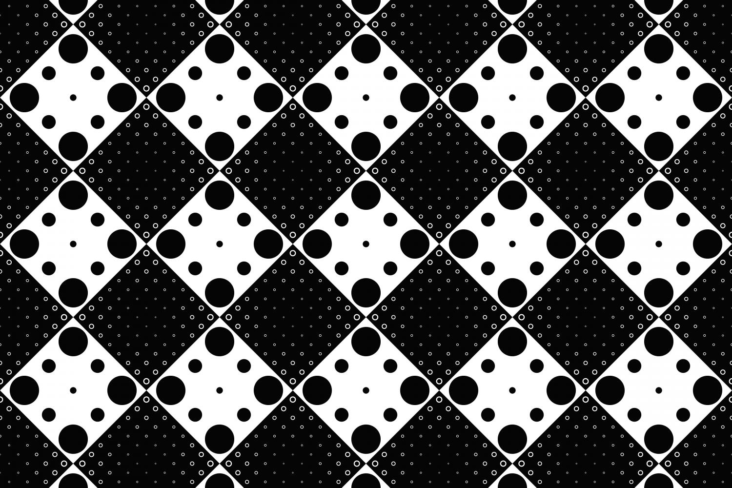 Download Free Black And White Seamless Circle Pattern Graphic By Davidzydd for Cricut Explore, Silhouette and other cutting machines.