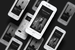 Print on Demand: Black is a New Color Instagram Story Graphic UX and UI Kits By Giant Design