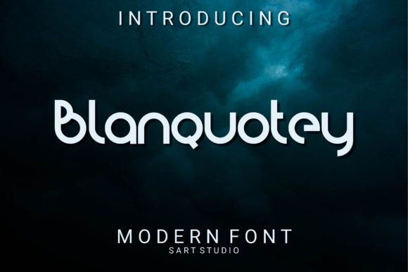 Print on Demand: Blanquotey Sans Serif Font By sartstudio