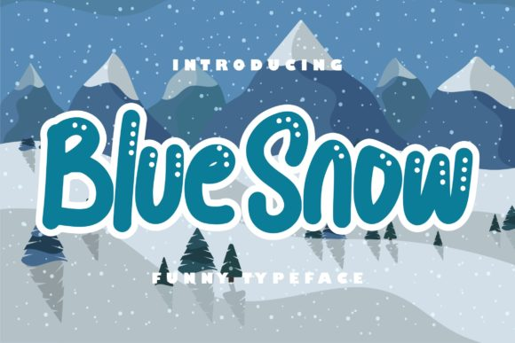Print on Demand: Blue Snow Script & Handwritten Font By Vunira