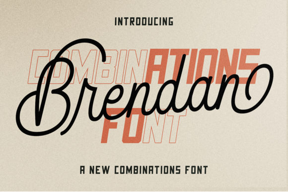 Print on Demand: Brendan Duo Script & Handwritten Font By supotype