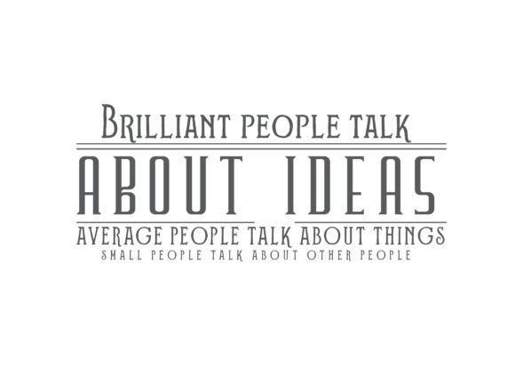 Download Free Brilliant People Talk About Ideas Graphic By Baraeiji Creative for Cricut Explore, Silhouette and other cutting machines.