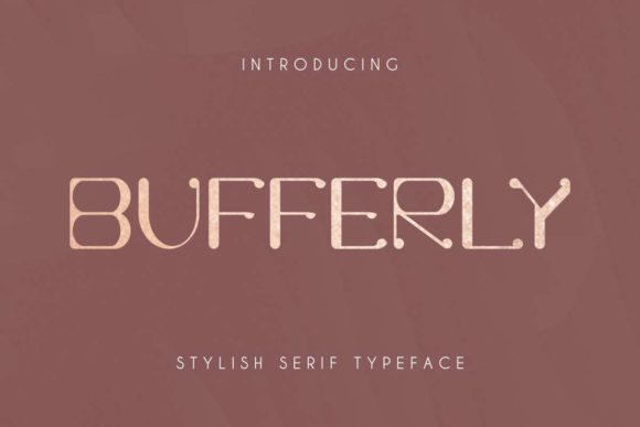 Print on Demand: Bufferly Serif Font By EdricStudio