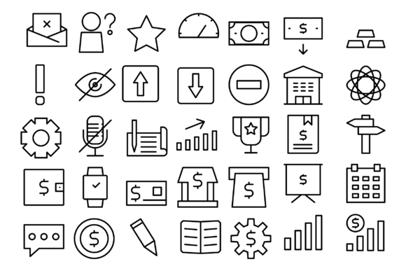 Print on Demand: Business and Company Icons Graphic Icons By Designvector10