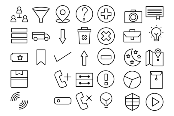 Business and Media Graphic Icons By Designvector10