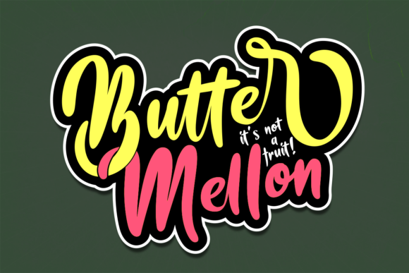 Print on Demand: Butter Mellon Script & Handwritten Font By estede75