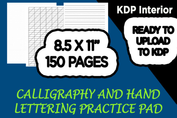 Print on Demand: Calligraphy and Hand Lettering Paper Graphic KDP Interiors By Gurus Kdp Templates - Image 1