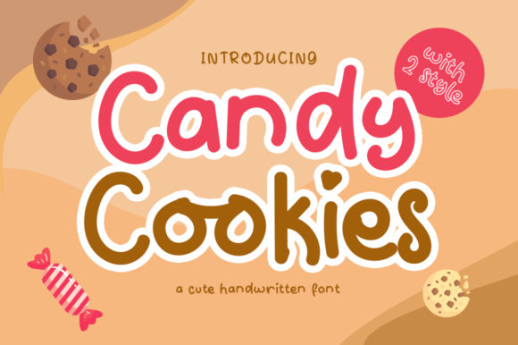 Download Free Candy Cookies Font By Embunstudio Creative Fabrica for Cricut Explore, Silhouette and other cutting machines.