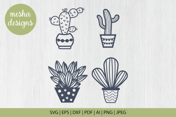 Download Free Catus Plant Cut File Template Graphic By Diycuttingfiles for Cricut Explore, Silhouette and other cutting machines.