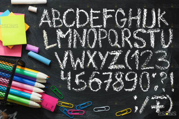 Chalkboard Alphabet Font Clipart Graphic Actions & Presets By 2SUNS