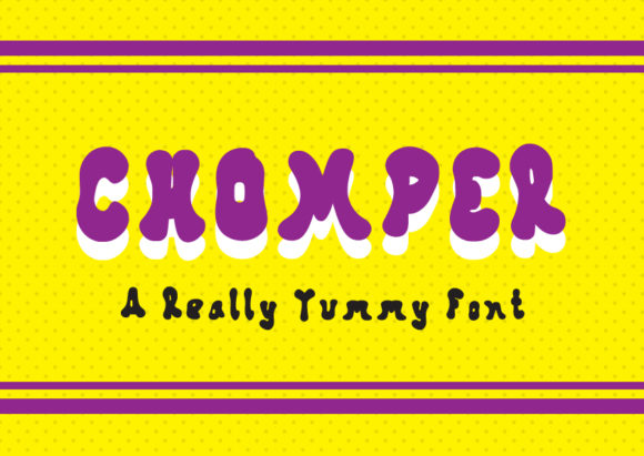 Print on Demand: Chomper Display Font By GraphicsBam Fonts