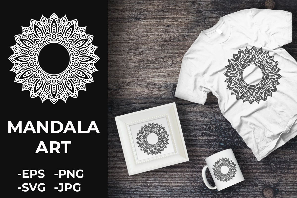 Download Free Circular Pattern Mandala Art 185 Graphic By Azrielmch for Cricut Explore, Silhouette and other cutting machines.