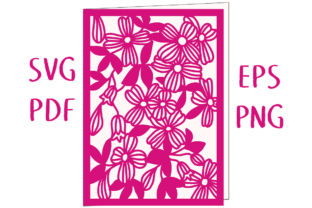 Download Free Clematis Floral Greetings Card Graphic By Nic Squirrell SVG Cut Files
