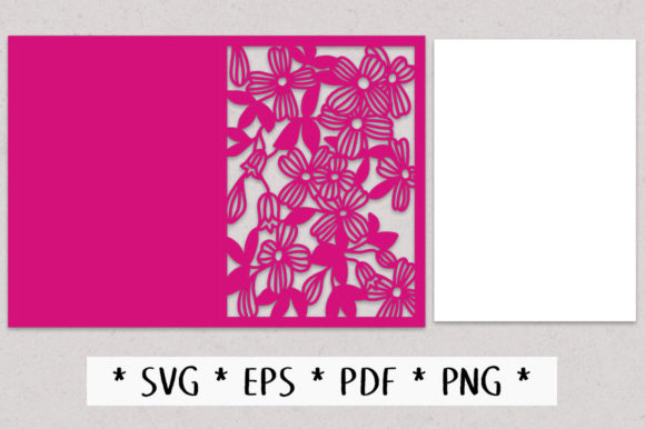 Download Free Clematis Floral Greetings Card Graphic By Nic Squirrell for Cricut Explore, Silhouette and other cutting machines.