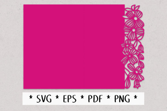 Download Free Clematis Floral Lace Edged Greeting Graphic By Nic Squirrell for Cricut Explore, Silhouette and other cutting machines.