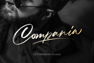 Print on Demand: Compania Script & Handwritten Font By letterhend