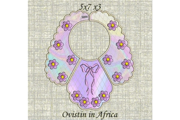 Cute Bow Baby Bib for Small Hoops Nursery Embroidery Design By Ovistin in Africa