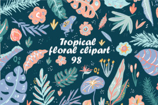 Print on Demand: Cute Tropical Elements Clipart Set Graphic Illustrations By Zolotovaillustrator