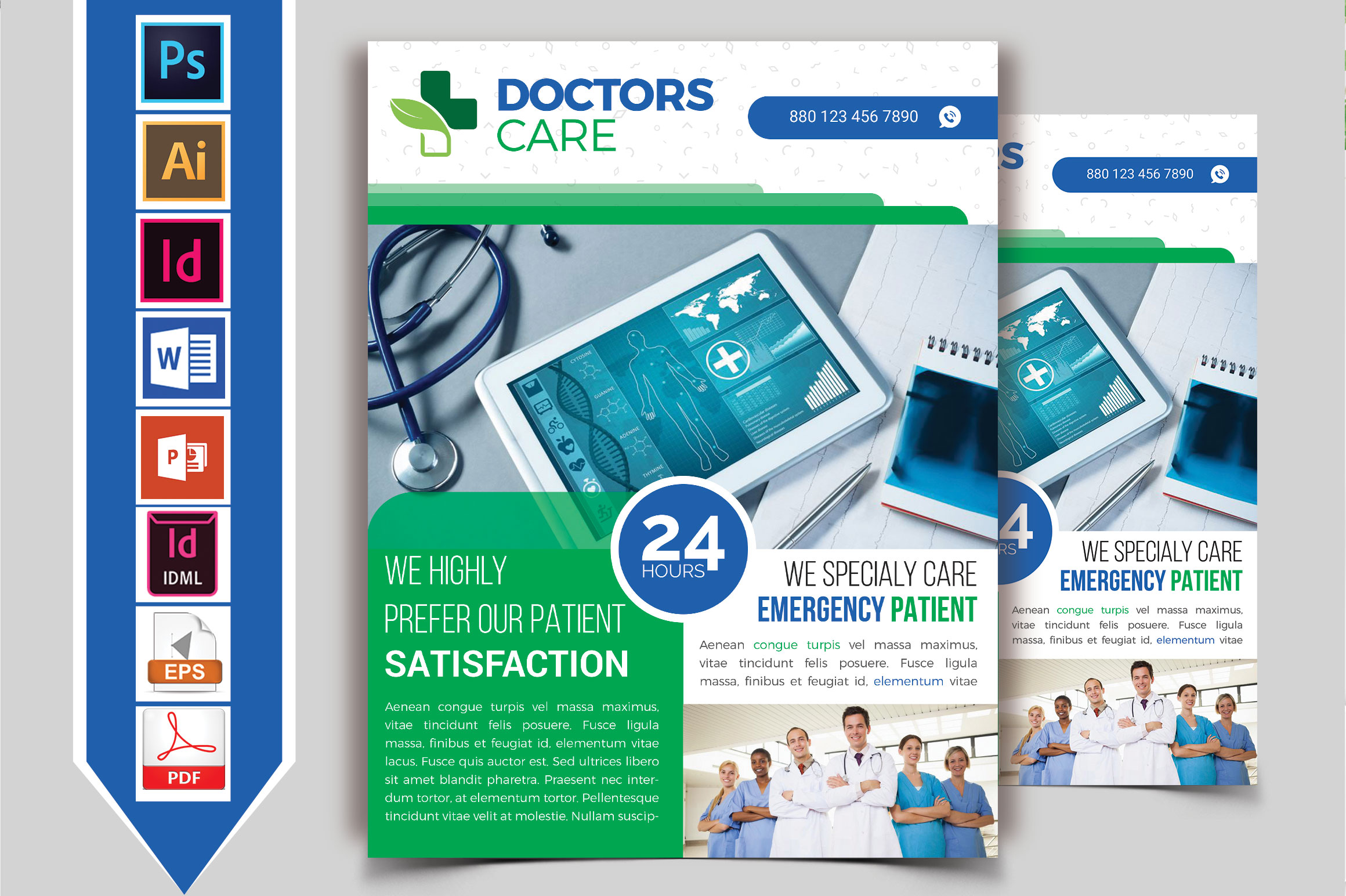 Download Free Doctor Medical Roll Up Banner Vol 04 Graphic By Tahmid2013 for Cricut Explore, Silhouette and other cutting machines.