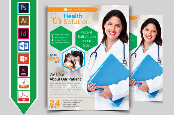 Download Free Doctor Medical Roll Up Banner Vol 01 Graphic By Imagine Design for Cricut Explore, Silhouette and other cutting machines.
