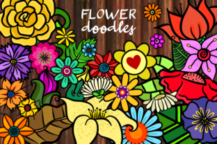 Print on Demand: Doodle Flower Decorative Design Elements Graphic Illustrations By Prawny
