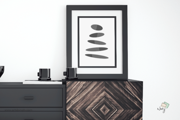 Download Free Equilibrium Zen Stones Printable Art Graphic By Artsbynaty for Cricut Explore, Silhouette and other cutting machines.