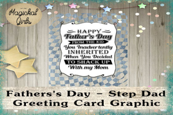 Father S Day Card Step Dad Funny Graphic By Magickal Girls
