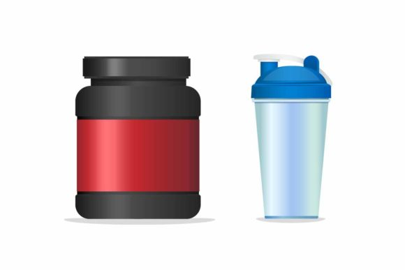 Download Free Fitness Supplement Gain Mass Product Graphic By Aryo Hadi for Cricut Explore, Silhouette and other cutting machines.