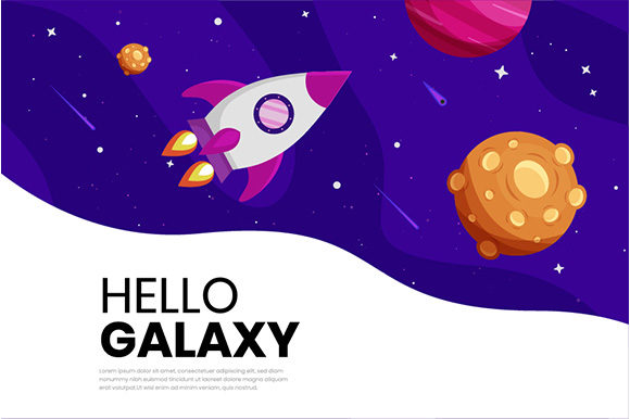 Download Free Flat Galaxy Space Colorful Background Graphic By Apple for Cricut Explore, Silhouette and other cutting machines.