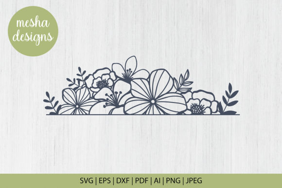 Floral Border Cut File Graphic By Diycuttingfiles Creative Fabrica