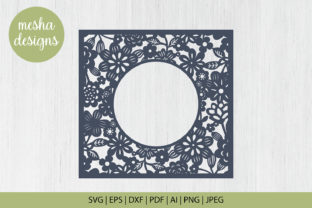 Download Free Floral Frame Paper Cut File Graphic By Diycuttingfiles Creative Fabrica for Cricut Explore, Silhouette and other cutting machines.