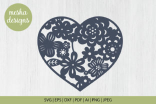 Download Free Floral Heart Frame Cut File Graphic By Diycuttingfiles for Cricut Explore, Silhouette and other cutting machines.