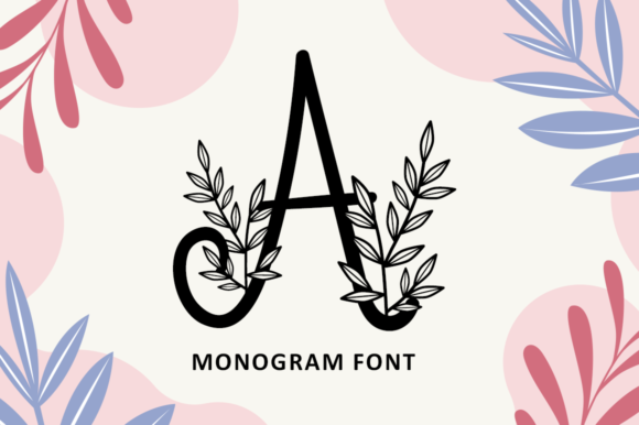Download Free Foliage Monogram Font By Illushvara Creative Fabrica for Cricut Explore, Silhouette and other cutting machines.