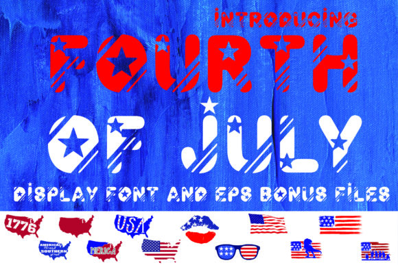 Print on Demand: Fourth of July Display Font By KtwoP