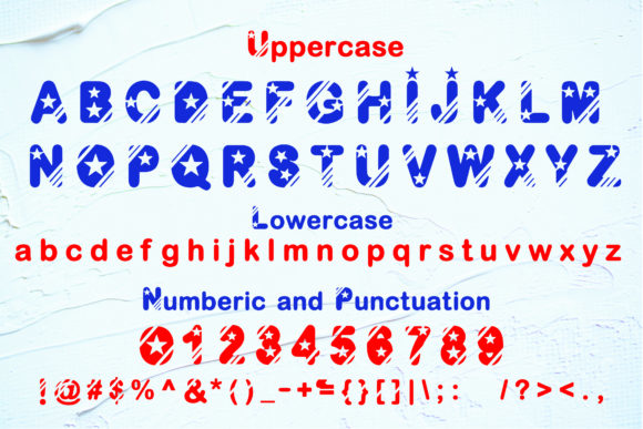 Print on Demand: Fourth of July Display Font By KtwoP - Image 2